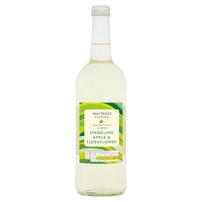Waitrose sparkling apple & elderflower spring water