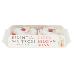 essential Waitrose iced Belgian buns