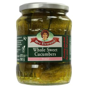 Mrs Elswood cucumbers pickled whole