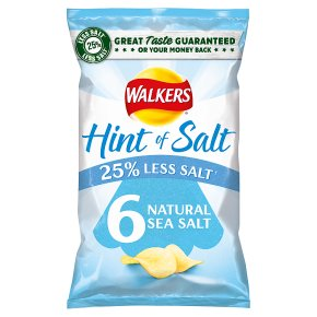 Walkers Lights simply salted multipack crisps