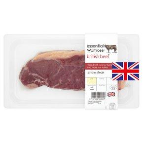 essential Waitrose British beef sirloin steak