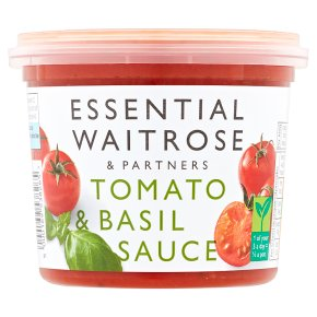 essential Waitrose tomato & basil sauce