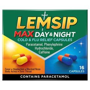 Lemsip Max 16 cold & flu day & night capsules