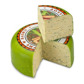 Tintern mature cheddar cheese with chives & shallots
