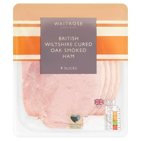 Waitrose British Wiltshire Cured Oak Smoked Ham 4 Slices
