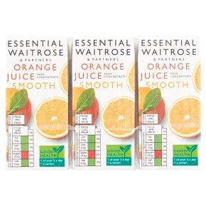 essential Waitrose pure orange juice, 6 pack