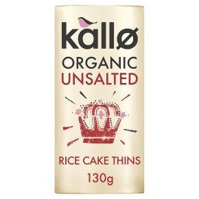 Kallo organic unsalted wholegrain rice cakes