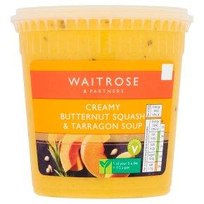 Waitrose butternut squash & tarragon soup