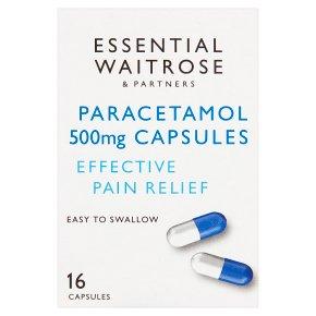 essential Waitrose Paracetamol Capsules
