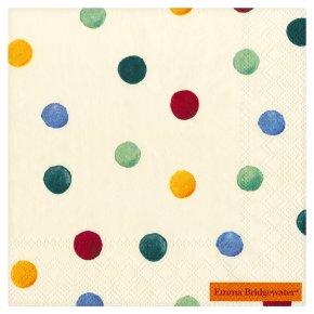 Ideal Home Range: Emma Bridgewater polka dot napkins, 33cm  - pack of 20