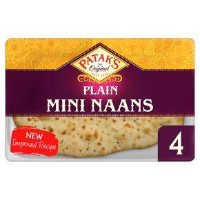 Patak's Plain Mini Naans