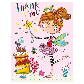 Rachel Ellen fairy thank you cards, pack of 5