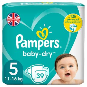 Pampers Baby Dry 5 Essential 39 Nappies