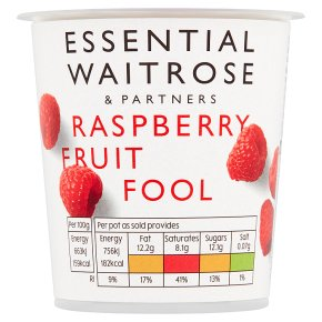 Waitrose fruit fool raspberry