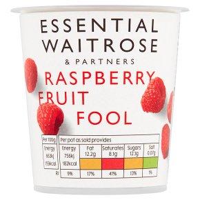 essential Waitrose raspberry fruit fool