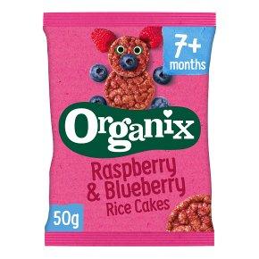 Organix organic raspberry & blueberry rice cakes - stage 2