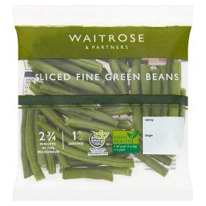 Waitrose sliced fine green beans