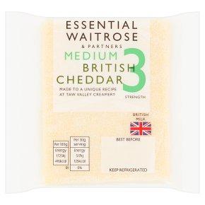 Essential Waitrose cheddar (medium)