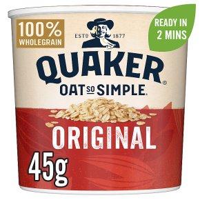 Quaker Oat So Simple original porridge cereal pot