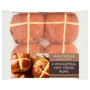 Waitrose wholemeal hot cross buns