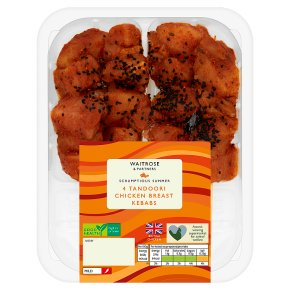 Waitrose 4 Tandoori Chicken Breast Kebabs