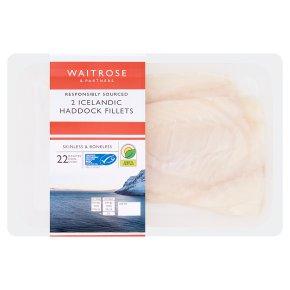 Waitrose MSC skinless boneless haddock fillets