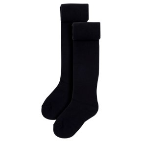 Waitrose 2pk Black tights size: 7-8yrs