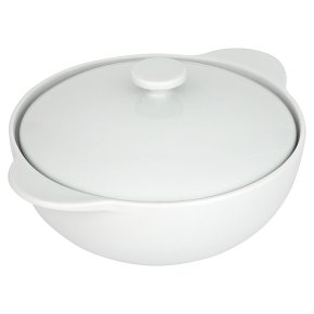 Waitrose Chef's white large casserole dish