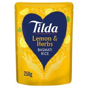 Tilda steamed basmati rice lemon basmati