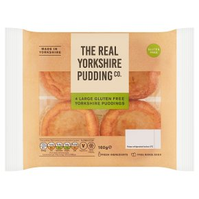 The Real Yorkshire Pudding Co 4 Large Gluten Free Puddings