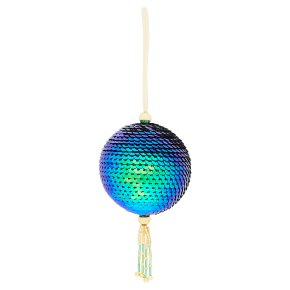 Waitrose Peacock Sequin Bauble