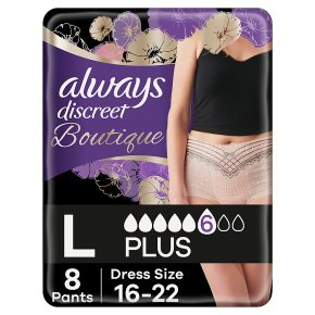 Always Discreet Boutique Pants 6 Drop, Large