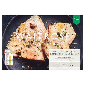 Waitrose Ray Wings, with Lemon Butter, Capers & Parsley