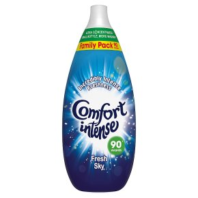 Comfort Intense Fresh Sky Fabric Conditioner, 90 wash