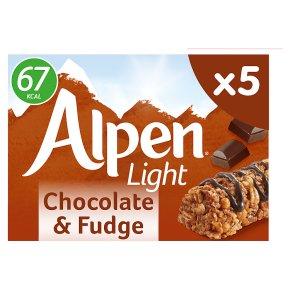 Alpen 5 light bars chocolate & fudge