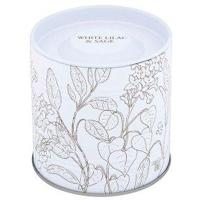 Flower Garden Lilac Candle Tin