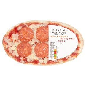 essential Waitrose pepperoni thin & crispy pizza