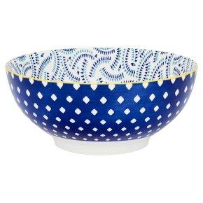 Fusion Large Blue Trail Bowl
