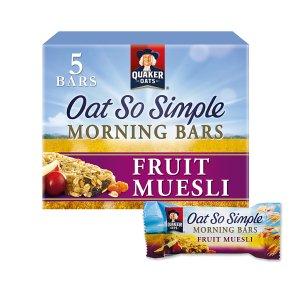Quaker Oat So Simple fruit muesli morning bars