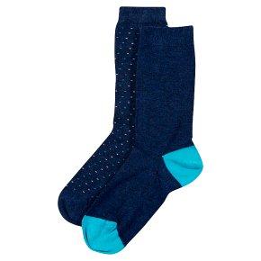 Waitrose Supersoft Blue/Spot Ankle