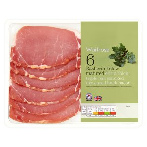 Waitrose Extra Thick Triple Oak Smoked Back Bacon