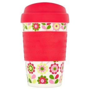 Waitrose Reusable Cup Floral Bright