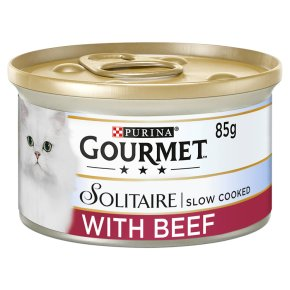 Gourmet Solitaire Tinned Cat Food With Beef