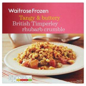 Waitrose Timperley rhubarb crumble