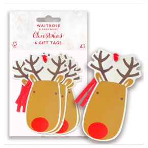 Waitrose Christmas Reindeer Gift Tags