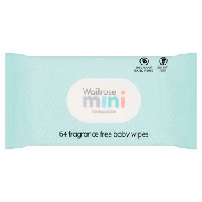 Waitrose Mini Baby Wipes Fragrance Free