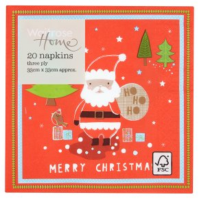 Christmas Napkins.Waitrose Home Father Christmas Napkins