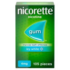 Nicorette icy white chewing gum, 4mg
