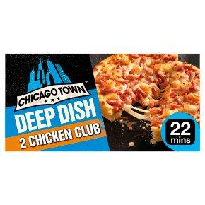 Chicago Town 2 Deep Dish Chicken Club Pizzas