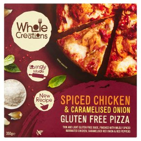 Whole Creations Chicken & Onion Gluten Free Pizza